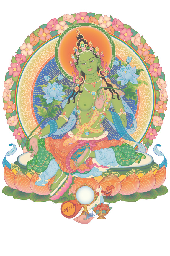 Image result for green tara kadampa